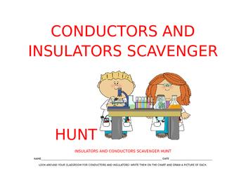 Conductors and Insulators Scavenger Hunt