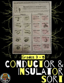 Conductors and Insulators Sort for Electrical Energy (Notebook Activities)