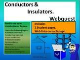 Conductors and insulators webquest and simulation