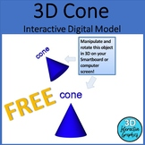 Cone 3D Shape Digital Model for Whiteboards and Smartboards FREE