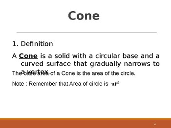 Cone And Cylinder For Secondary