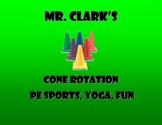Cone Rotation PE Sports, Yoga, Fun