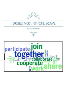 Cone Volume Partner Activity