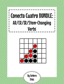 Conecta Cuatro BUNDLE: AR, ER/IR, Stem Changing Verbs