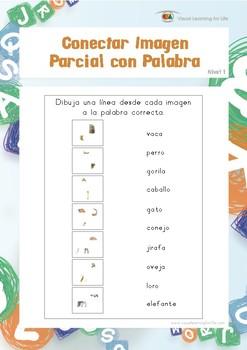 Conectar Imagen Parcial con Palabra (Habilidades de Percepción Visual)