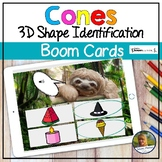 Cones 3D Shapes Digital Game Boom Cards   Distance Learning