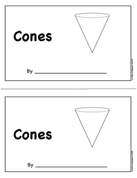 Cones Emergent Reader