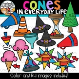 Cones in Everyday Life Clipart {Geometry Clipart}