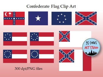 Confederate States of America Flags Clip Art