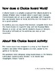 Confederation Choice Board Activity