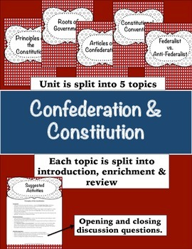 Confederation and Constitution (Bundle Pack)