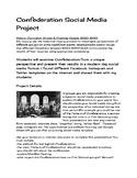 Confederation of Canada  - Social Media Project