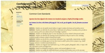 Confederation to Constitution Adventure Quest w/ Common Core Questions