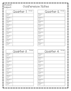 *FREEBIE* Conference Notes Template