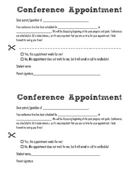 Conference Appointment Notice