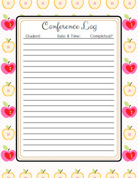 Conference Binder and Student Survey for Conferences