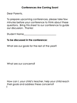 Pre-Conference Survey for Parents! {For ANY grade!}