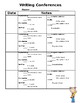 Conference Charts EDITABLE - Reading, Writing, Math, Spelling