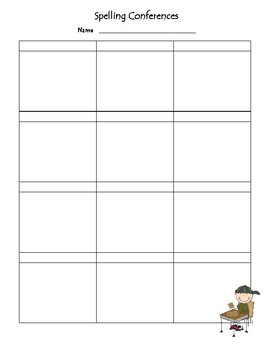 Conference Charts - Reading, Writing, Math, Spelling