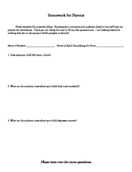 Conference Checklist for Students
