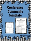 Conference Comments Template