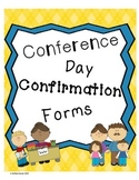 Conference Day Confirmation Forms