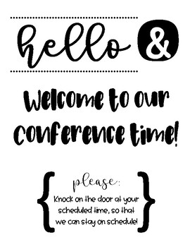 Conference Door Sign