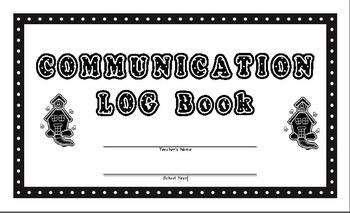 Communication Log Template for Teachers