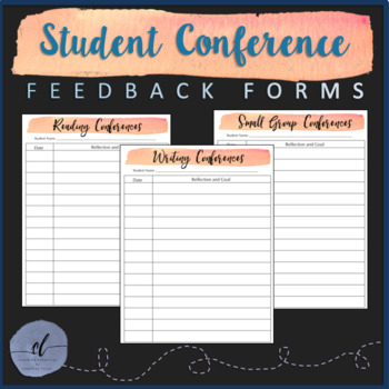 Student Conference Feedback Forms