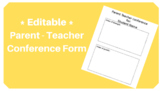 Conference Form *Editable*