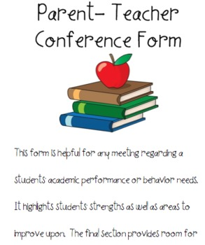 Conference Form for Meeting with Parents or Faculty