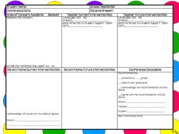Conference Forms (Bright Dots Background)
