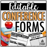 Conference Forms | EDITABLE