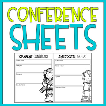 Conference Forms / FREEBIE!