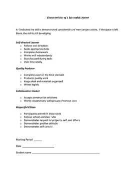 Conference Forms and Checklist