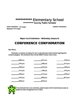Conference Forms/Documents