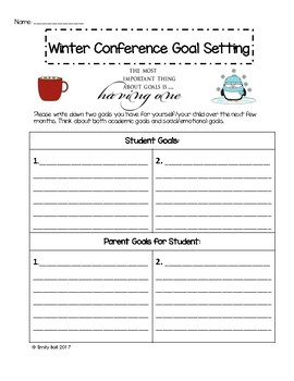 Conference Goal Setting for Students & Parents