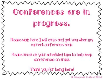 Conference In Progress Sign