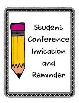 Conference Invitation and Reminder (PDF and Editable!)