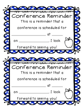 Conference Letter and Reminder