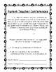 Parent-Teacher Conferences: Parent Letter, Reminder, AND interactive form!
