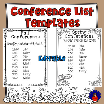 Conference List Templates