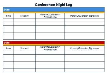 Conference Log
