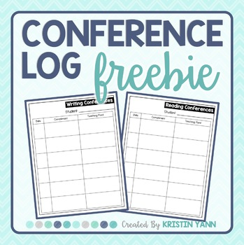 Conference Log for Conferring with Readers and Writers