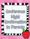 Conference Night Parent Confirmation Form