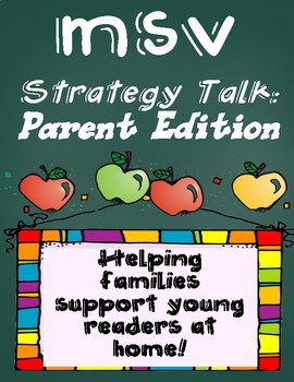Conference Night Support: Reading Strategy Talk, Parent Edition