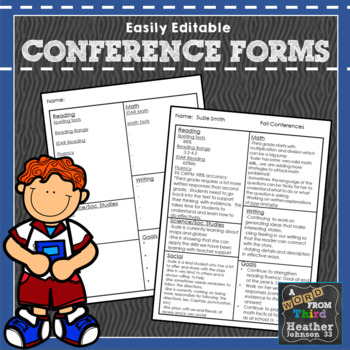 Conference Note Forms, Simple, Editable