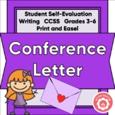 Conference Letter: Student To Parents CCSS Grades 3-6