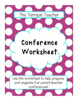 Conference Notes: A Way to Prepare for Parent-Teacher Conferences