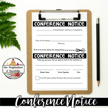 Conference Notice Accountablity Form